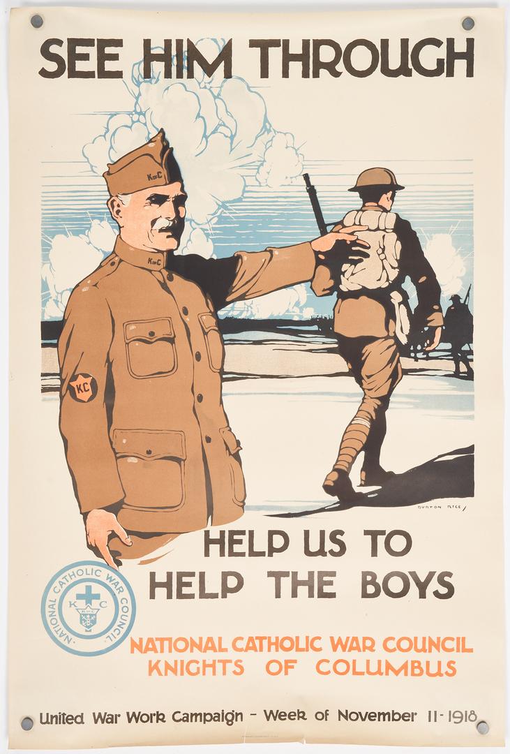 Lot 772: 5 WWI U.S. Propaganda posters, Group #2