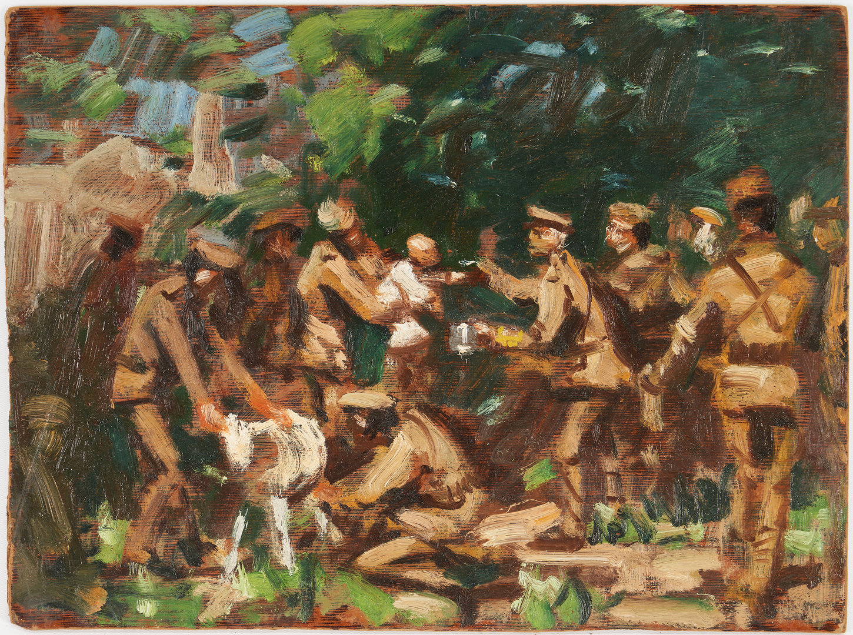 Lot 777: 2 Gilbert Gaul World War I Paintings