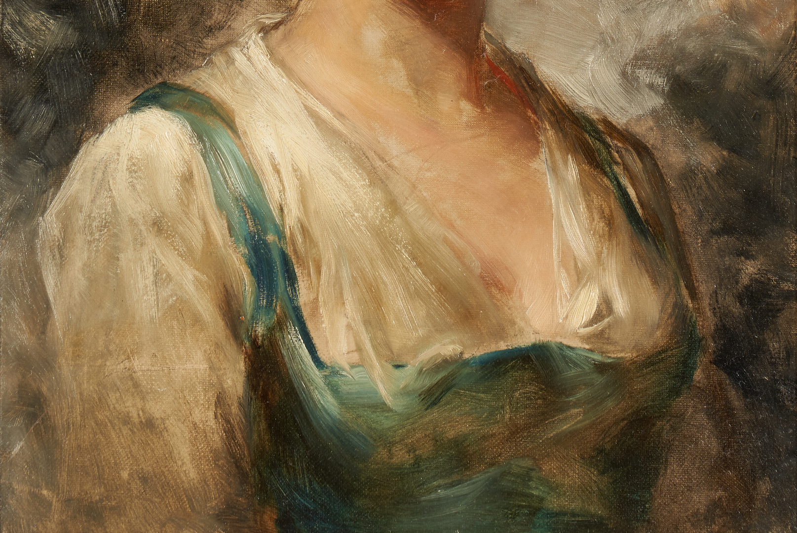 Lot 780: Oil Portrait of a Young Woman signed E. Bell