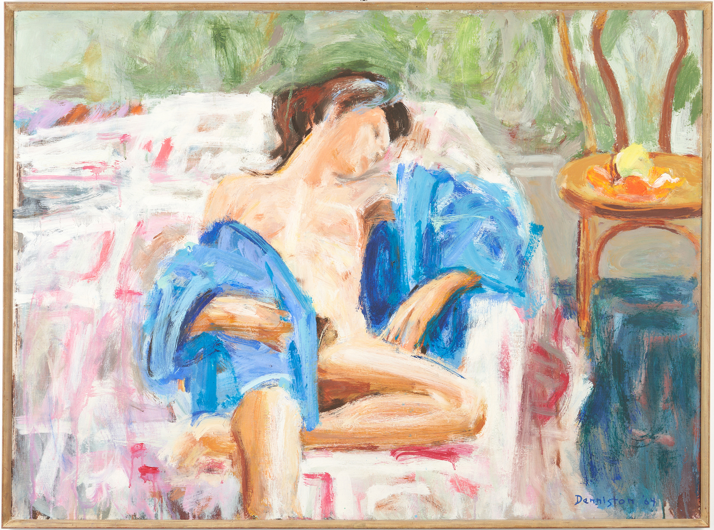 """Lot 782: Douglas Denniston Abstract O/C, """"The Pink Quilt"""", Exhibited"""