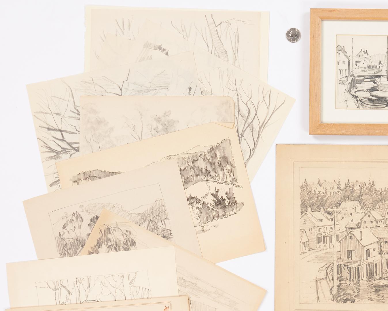 Lot 789: Archive of 24 Leo B. Blake Art Works