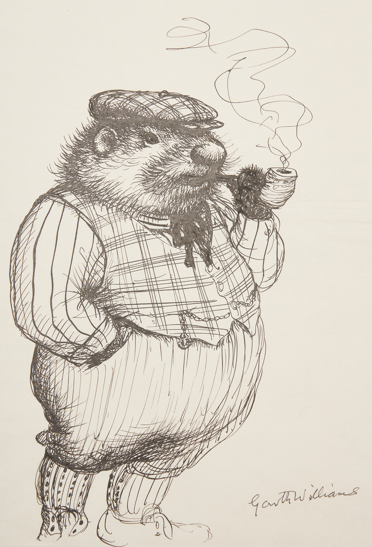 Lot 790: 4 Garth Williams Pen & Ink Drawings, incl. Tomorrow Magazine Illus.
