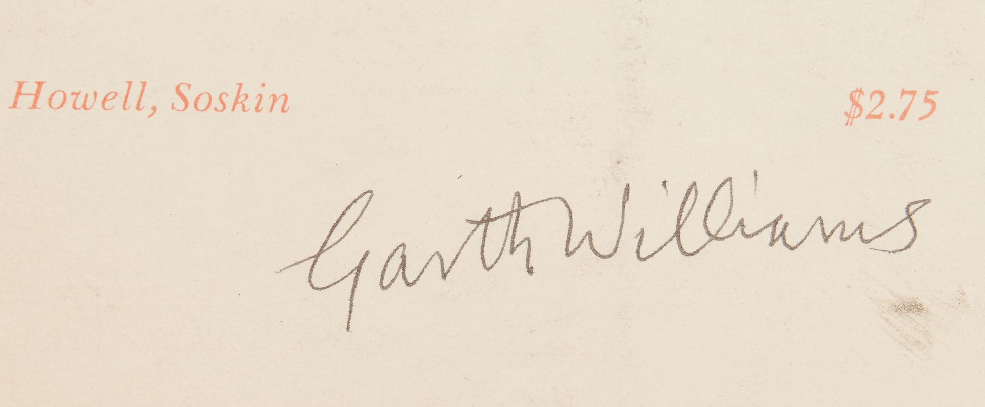 Lot 791: 3 Garth Williams Items, THE BLACK VENUS, 1946