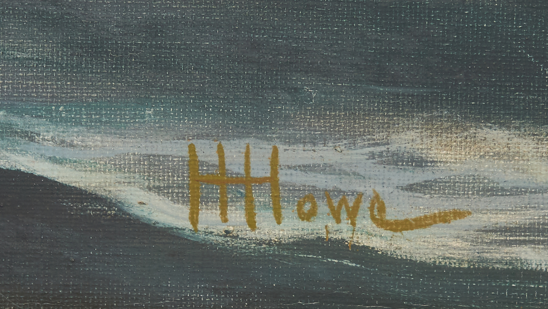 Lot 795: Harry Hambro Howe O/C Marine Painting, Brig Portland