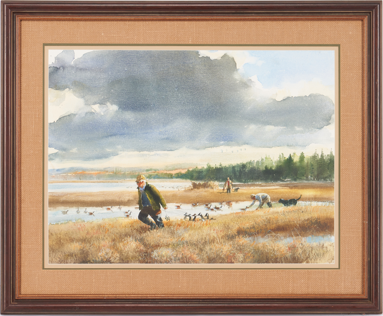 Lot 796: Francis (Frank) Golden Watercolor Hunting Scene