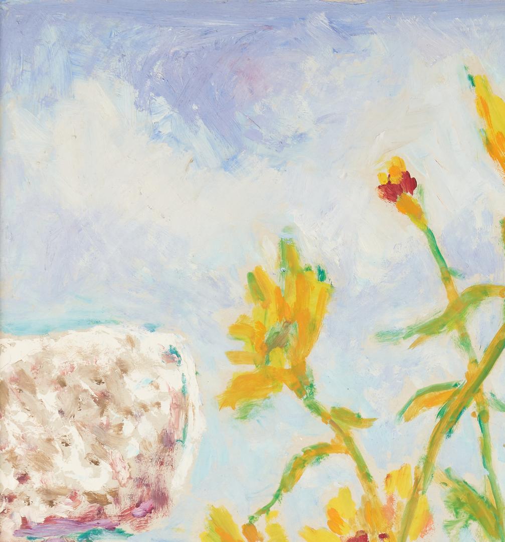 Lot 797: Stephen Rascoe Oil on Board, Sunflowers