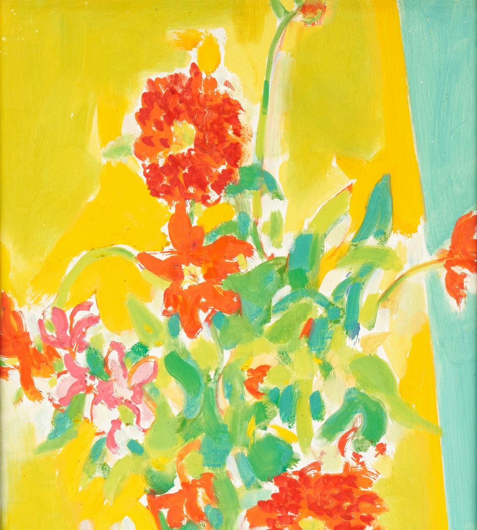 Lot 798: Stephen Rascoe Oil on Board Vase of Flowers