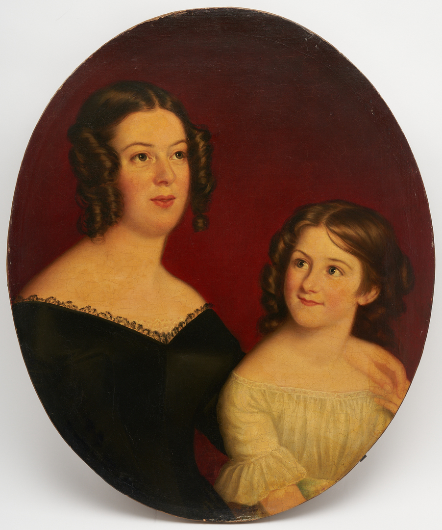 Lot 800: Southern School O/C, Portrait of a Mother and Child