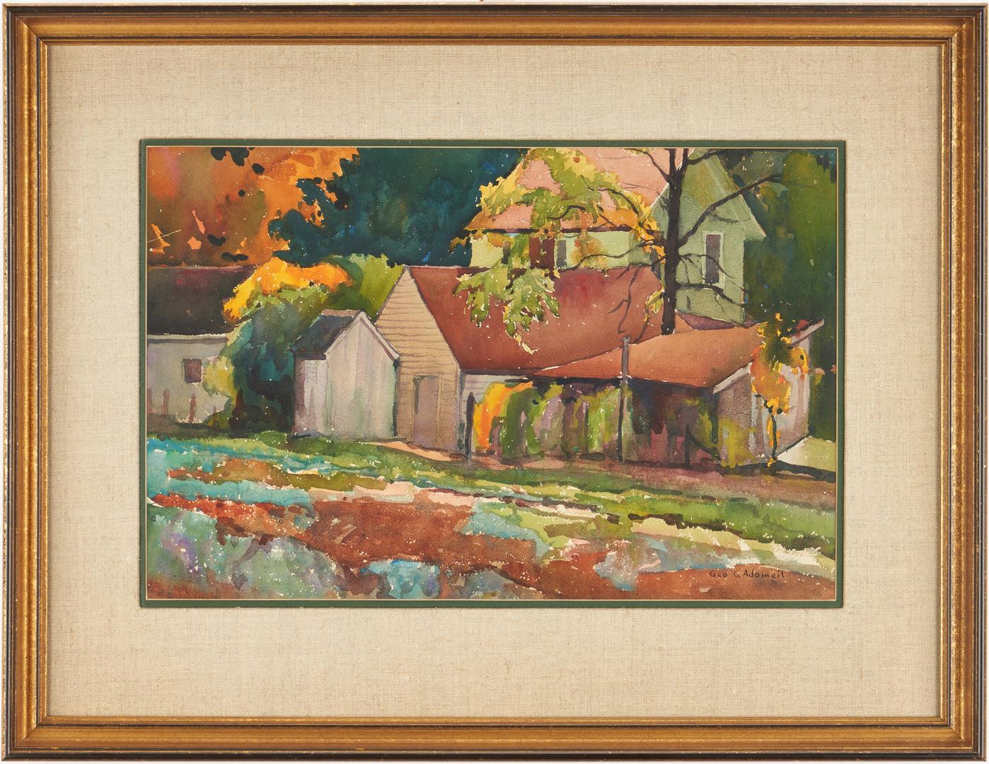 Lot 807: George Adomeit W/C, Farm House, Chargin Farm Ohio