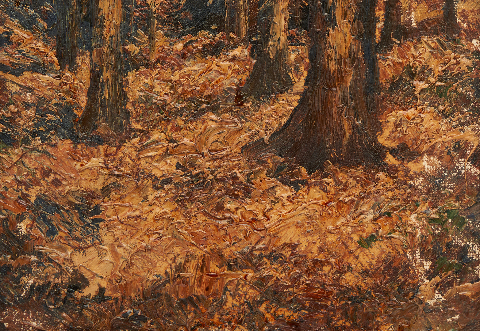 Lot 808: Two (2) William Eyden O/B, Autumn Landscape Paintings