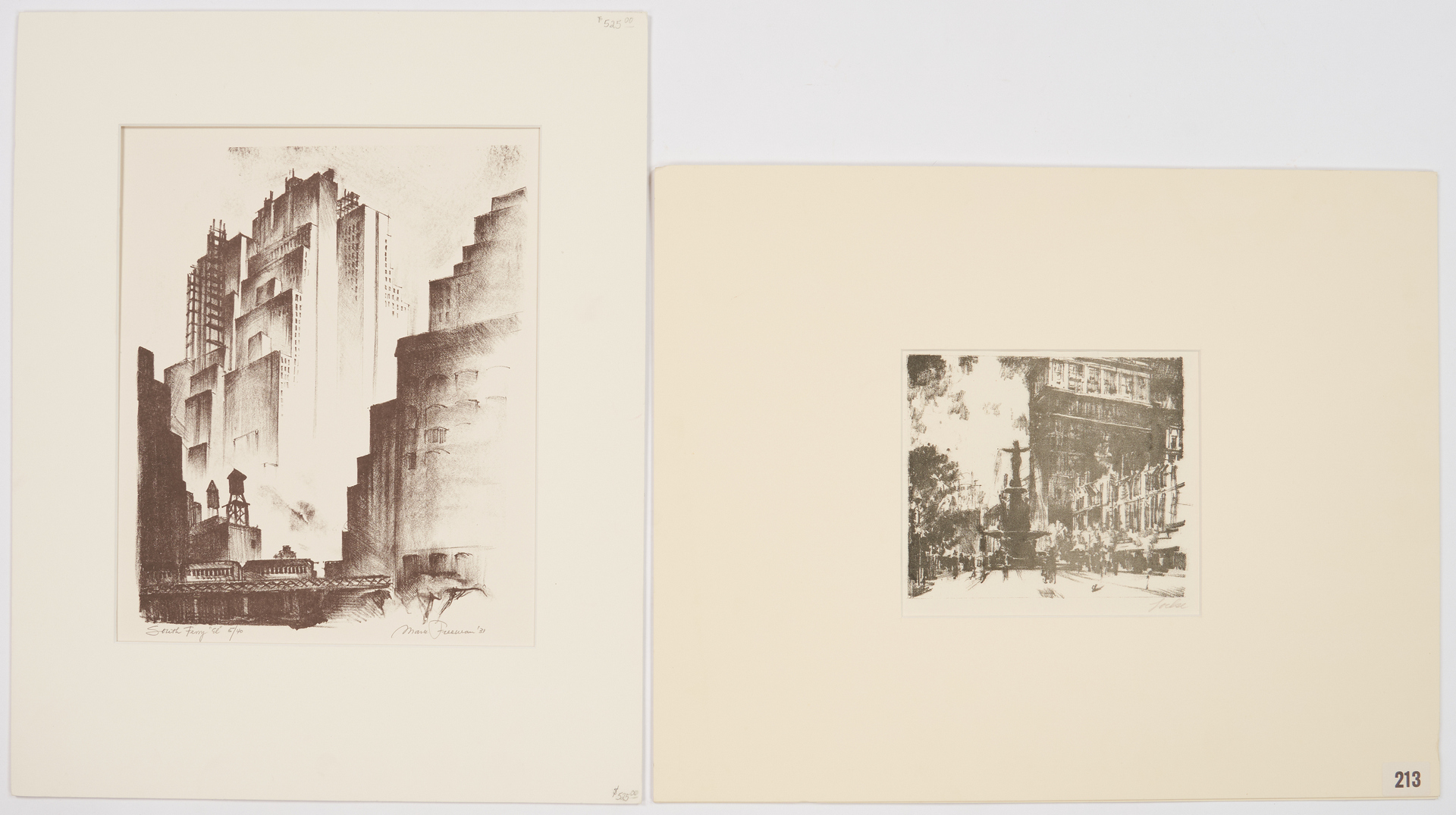 Lot 811: 2 City Lithographs, Mark Freeman & Lochse