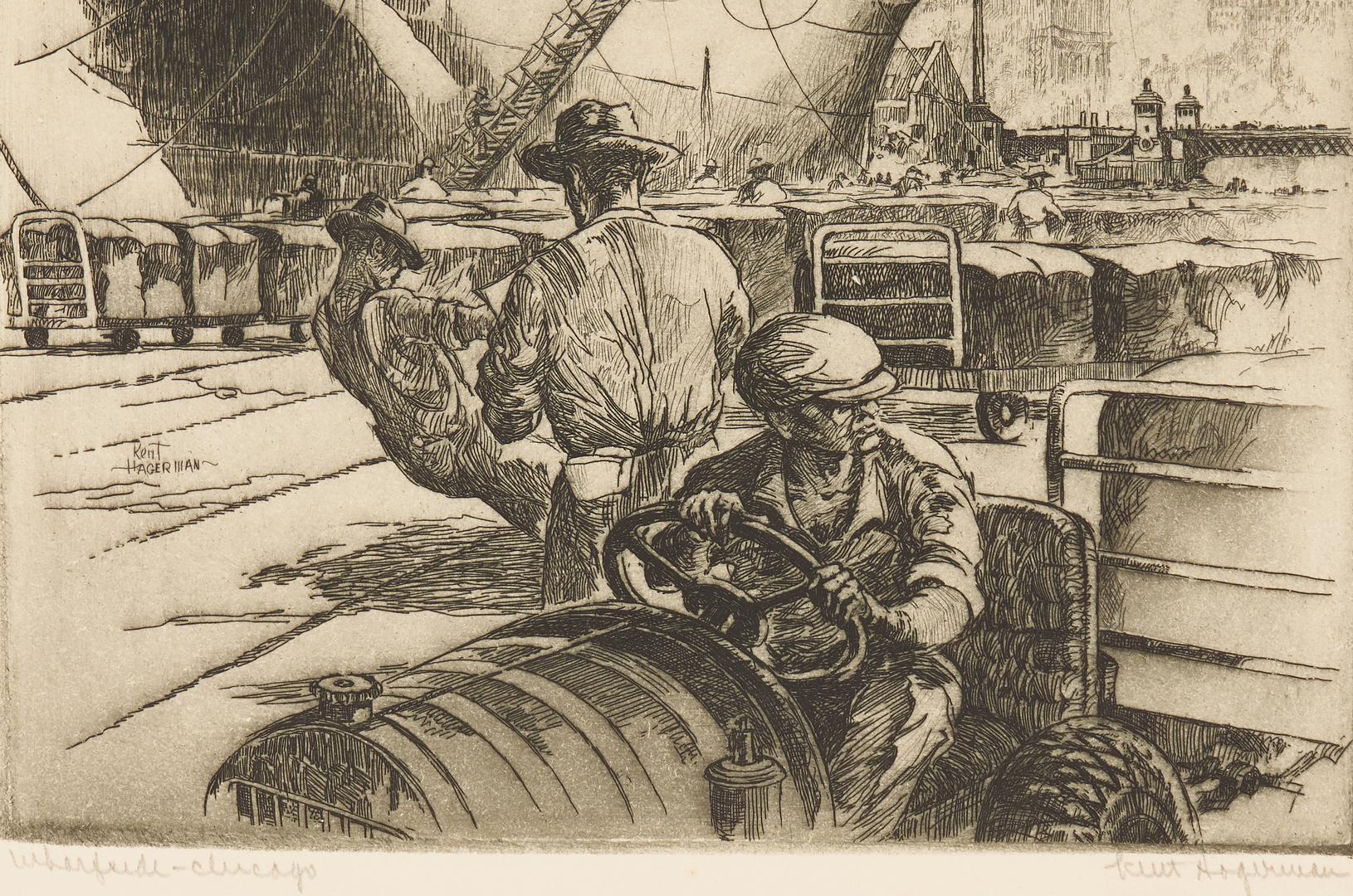 Lot 812: 4 Chicago Prints, incl. Charles Turzak, Kent Hagerman