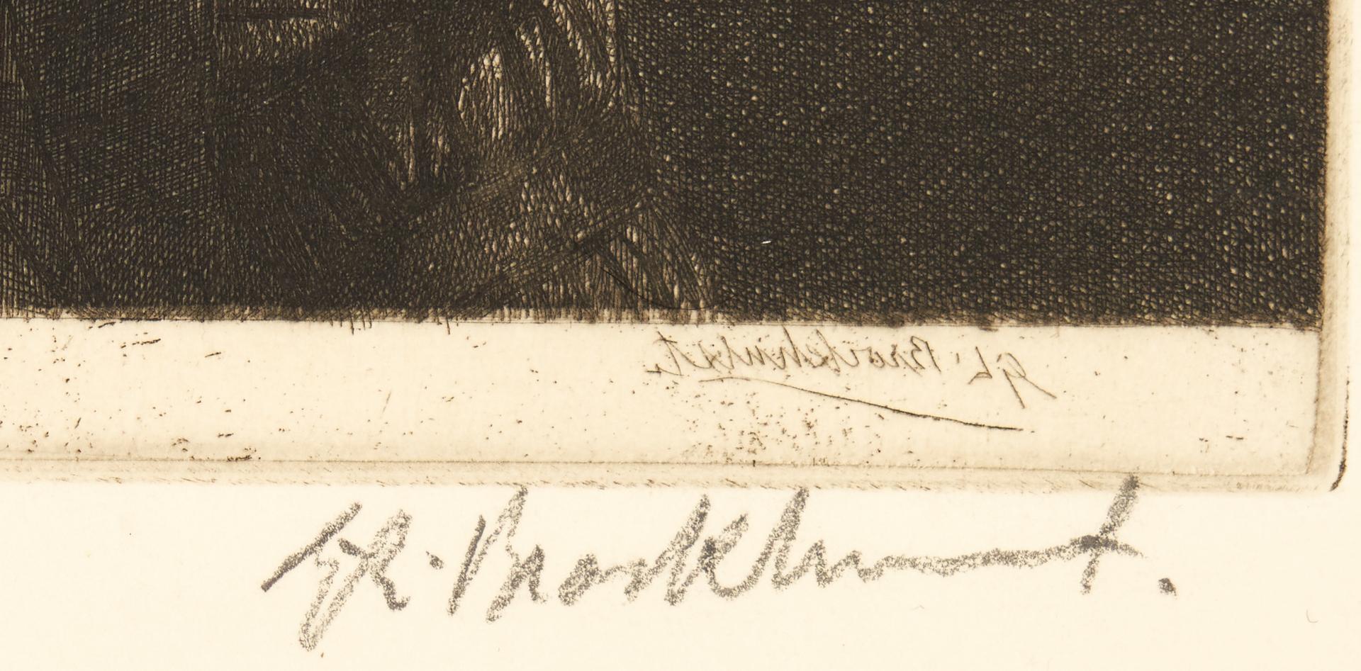 Lot 816: 3 Gerald Brockhurst Etchings of Una, Anais II, Black Cloak