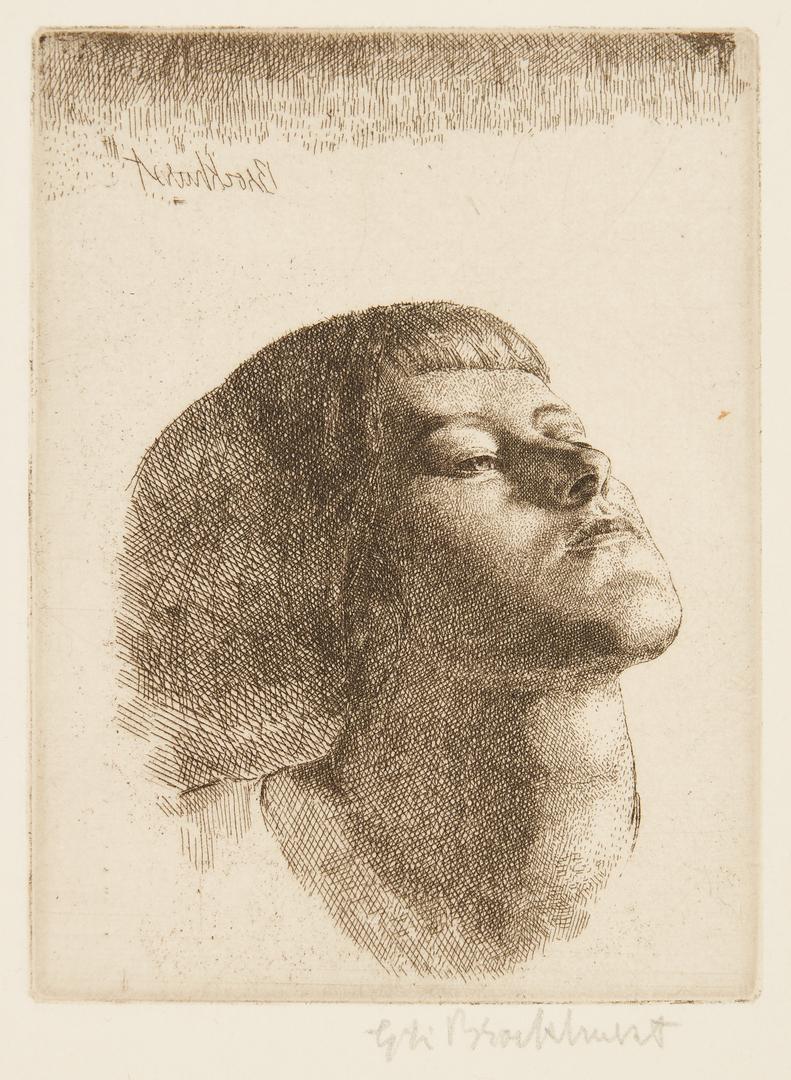 Lot 817: 4 Gerald Brockhurst Prints – Noemi, Gogarty, Head of Girl