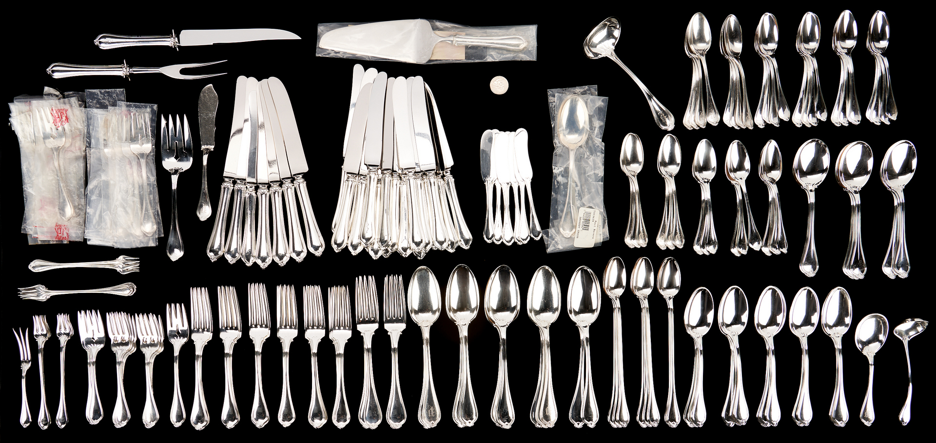 Lot 81: 191 Pcs. Towle Paul Revere Pattern Sterling Silver Flatware