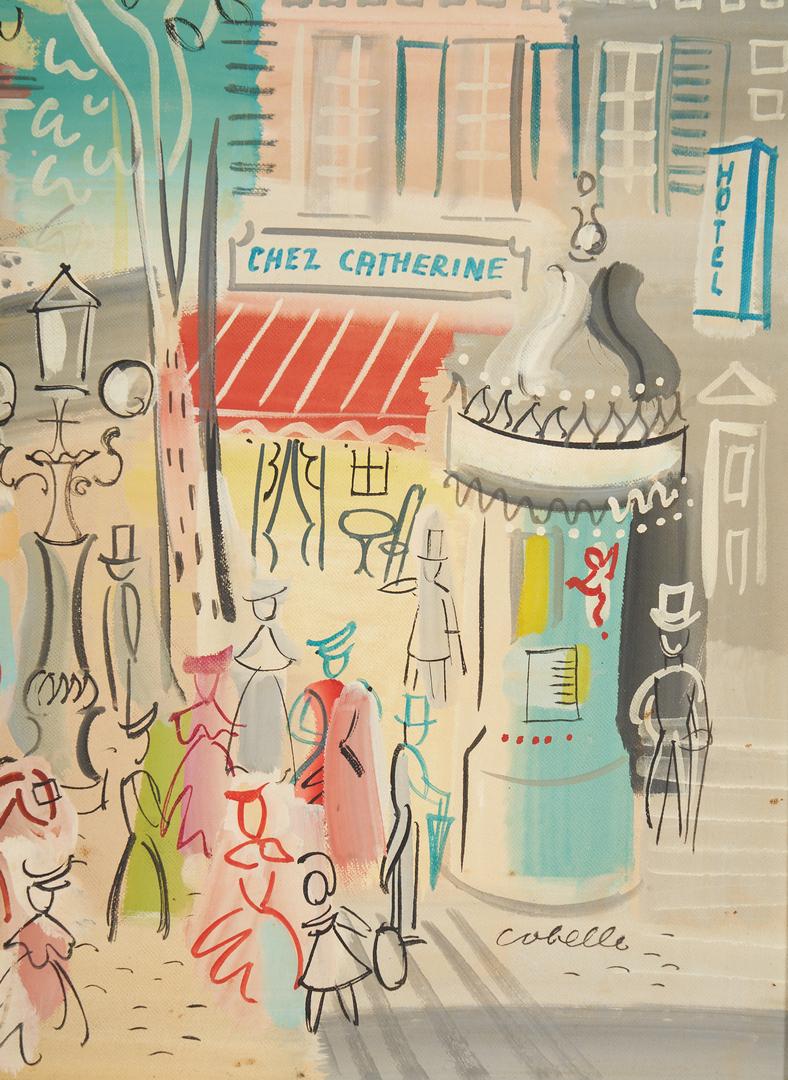 Lot 821: Charles Corbelle O/C Parisian Painting, Chez Catherine