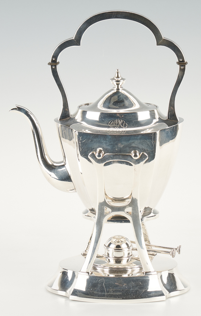 Lot 82: Japanese Asahi Shoten .950 Coffee & Tea Service w/ Tray, 260 oz troy
