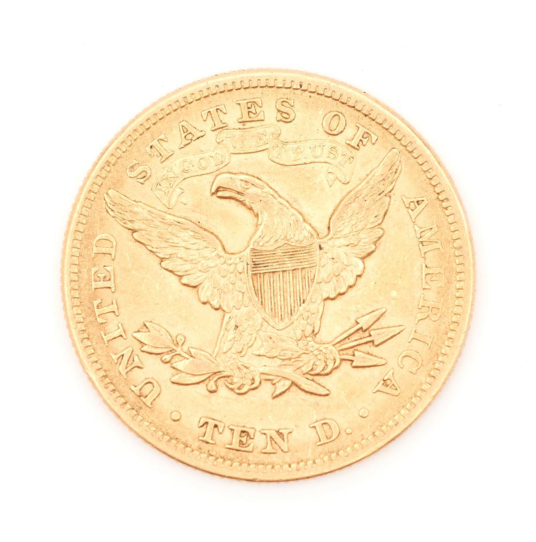 Lot 833: 1879 $10 Liberty Head Gold Eagle Coin