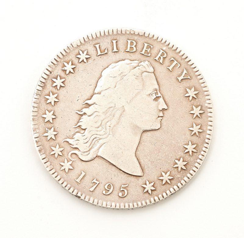 Lot 834: 1795 US Flowing Hair Silver Dollar