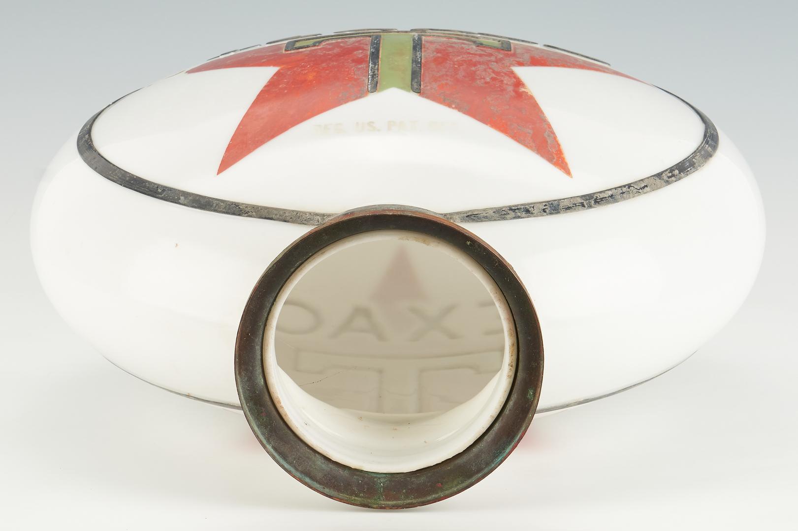 Lot 844: Texaco Star Glass Gravity Pump Globe