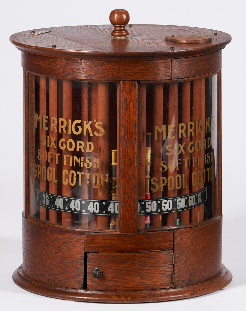 Lot 845: 2 Country Store Advertising Cabinets, incl. Merrick