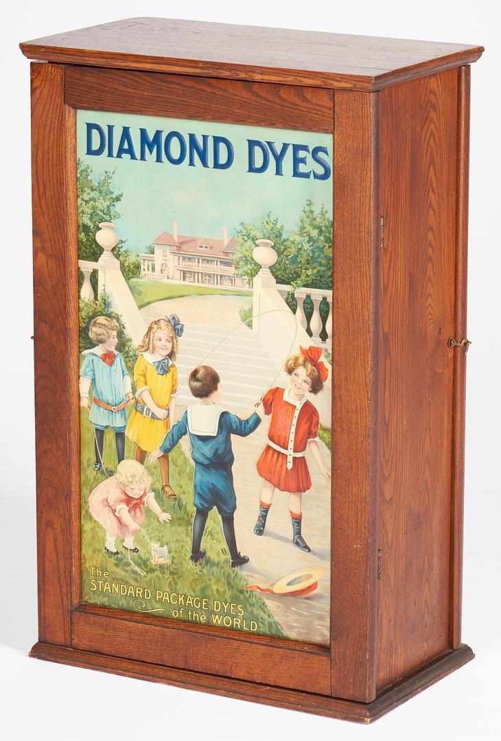Lot 846: Diamond Dye Advertising Cabinet