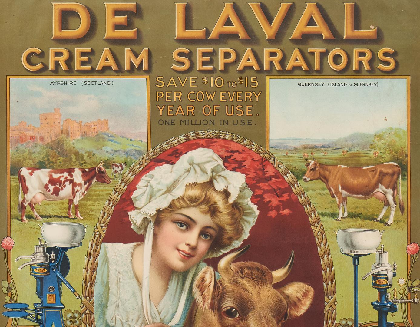 Lot 847: De Laval Cream Separator Advertising Sign