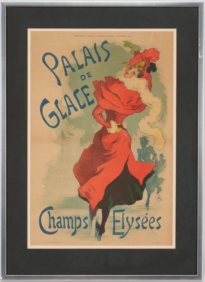 Lot 850: Jules Cheret Belle Epoque Lithograph, Palais de Glace