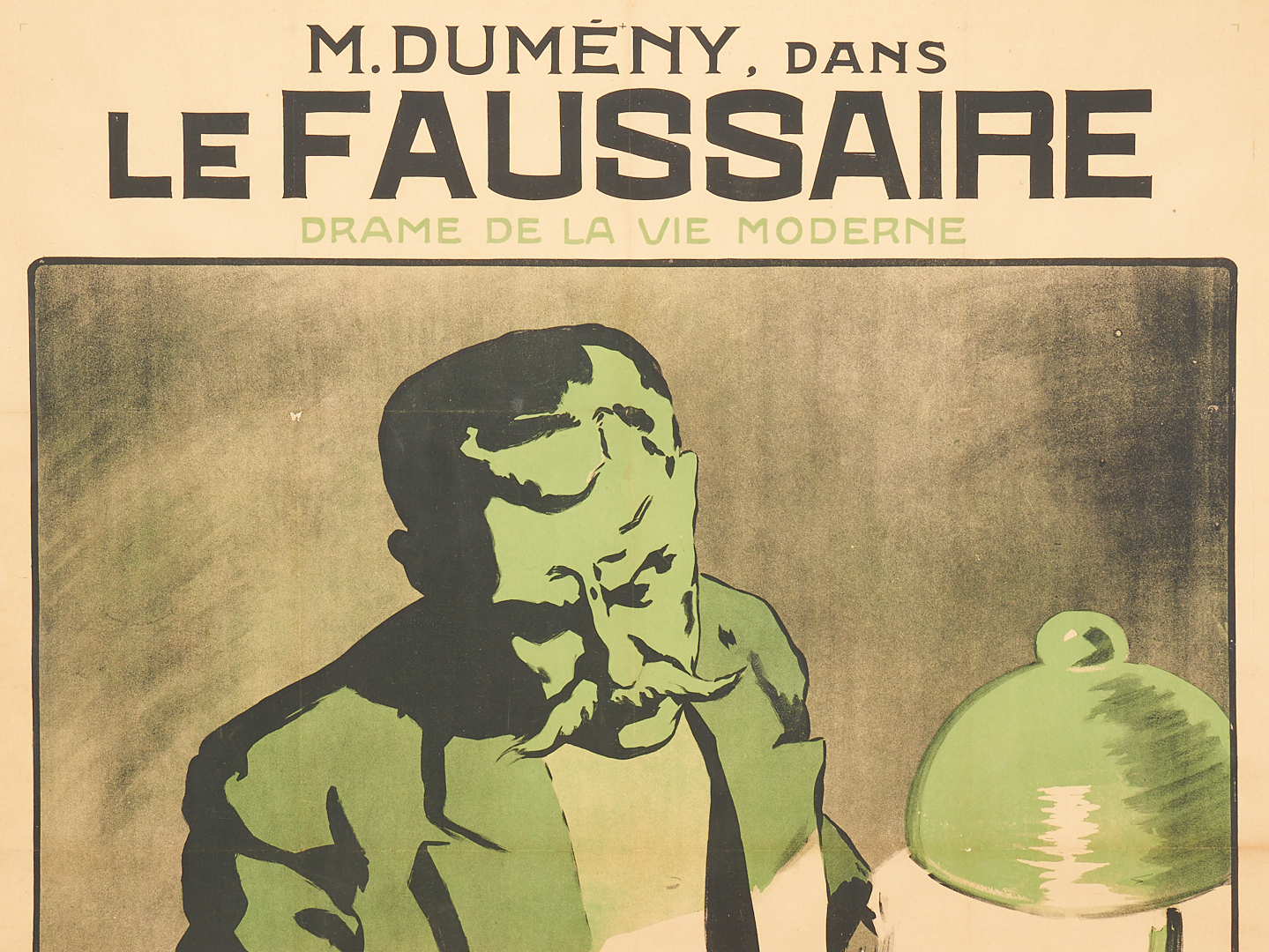 Lot 851: French Movie Poster, M. Dumeny, Le Faussaire, 1912