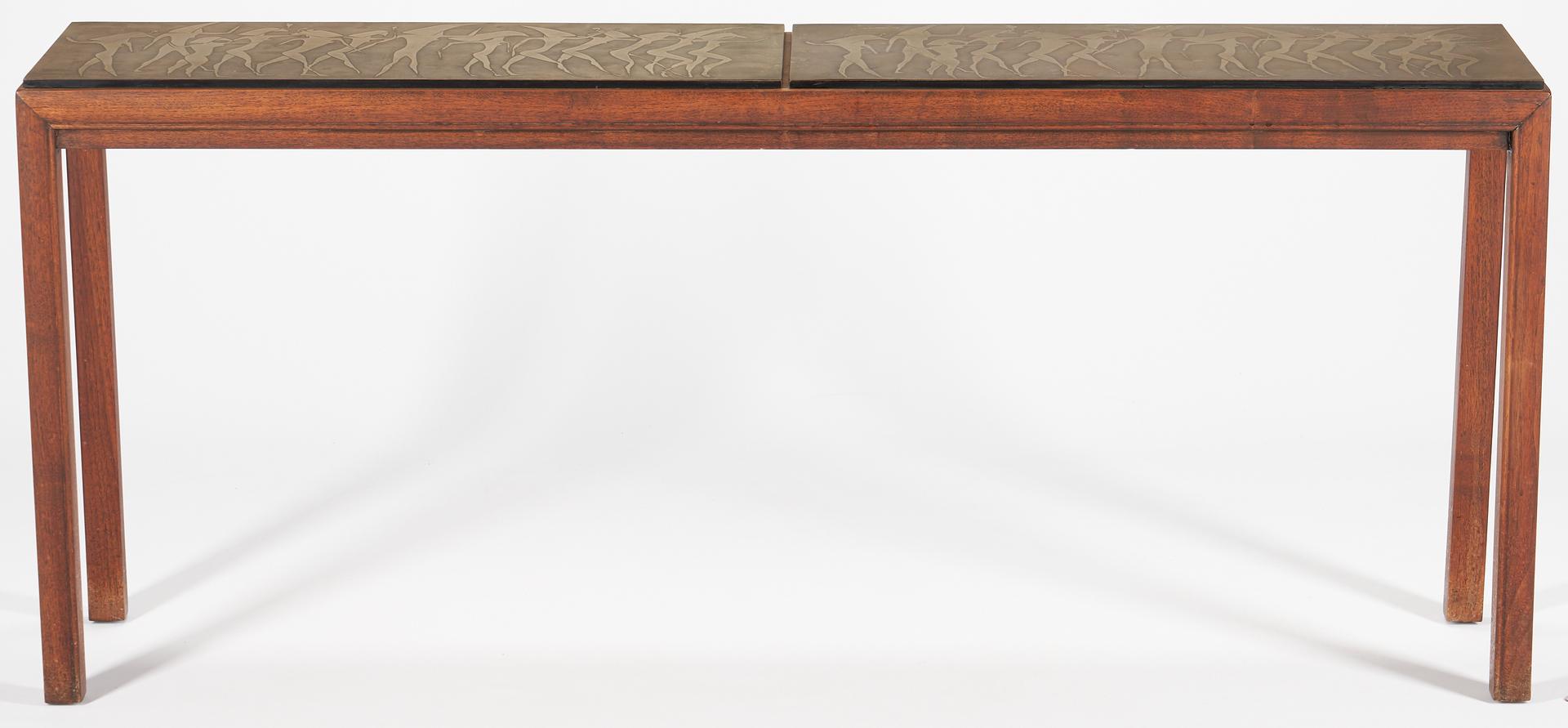 Lot 855: Mid-Century Console Table by John Stuart