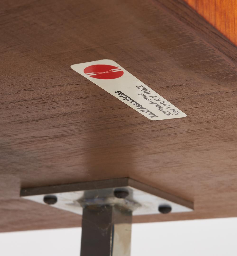 Lot 858: Labeled Mid-Century Knoll Walnut Credenza