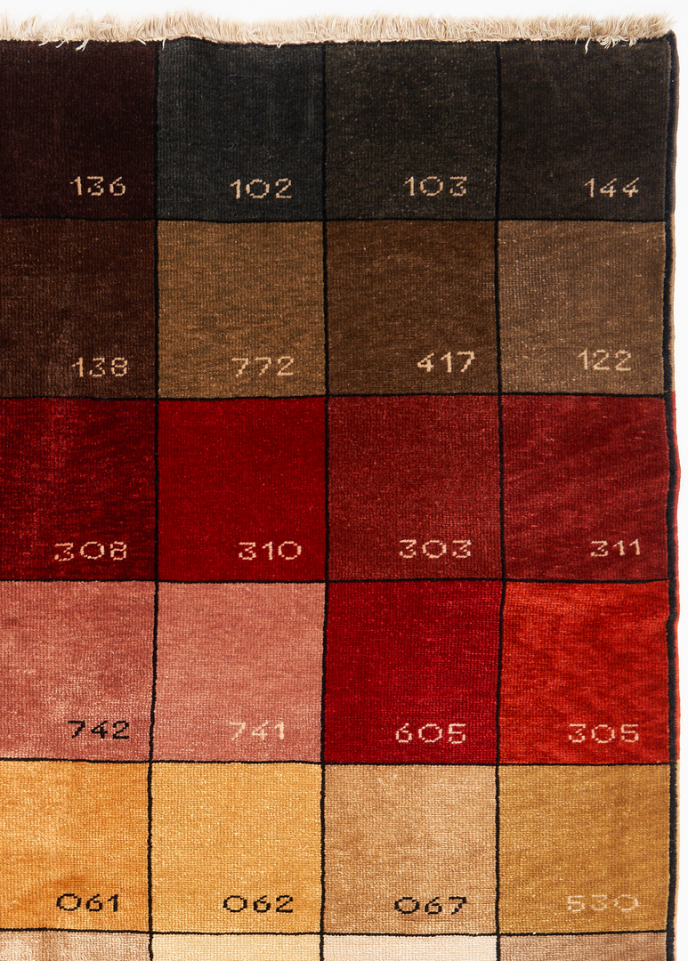Lot 865: Pantone Color Chart Rug