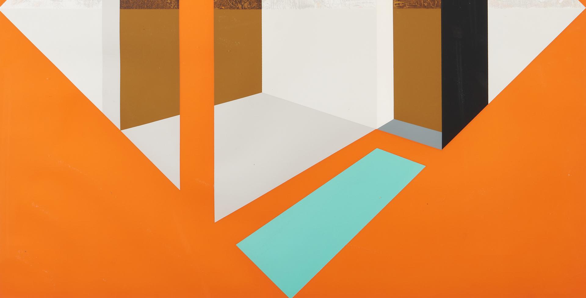 Lot 867: James Twitty Cubist Screenprint, Arlington