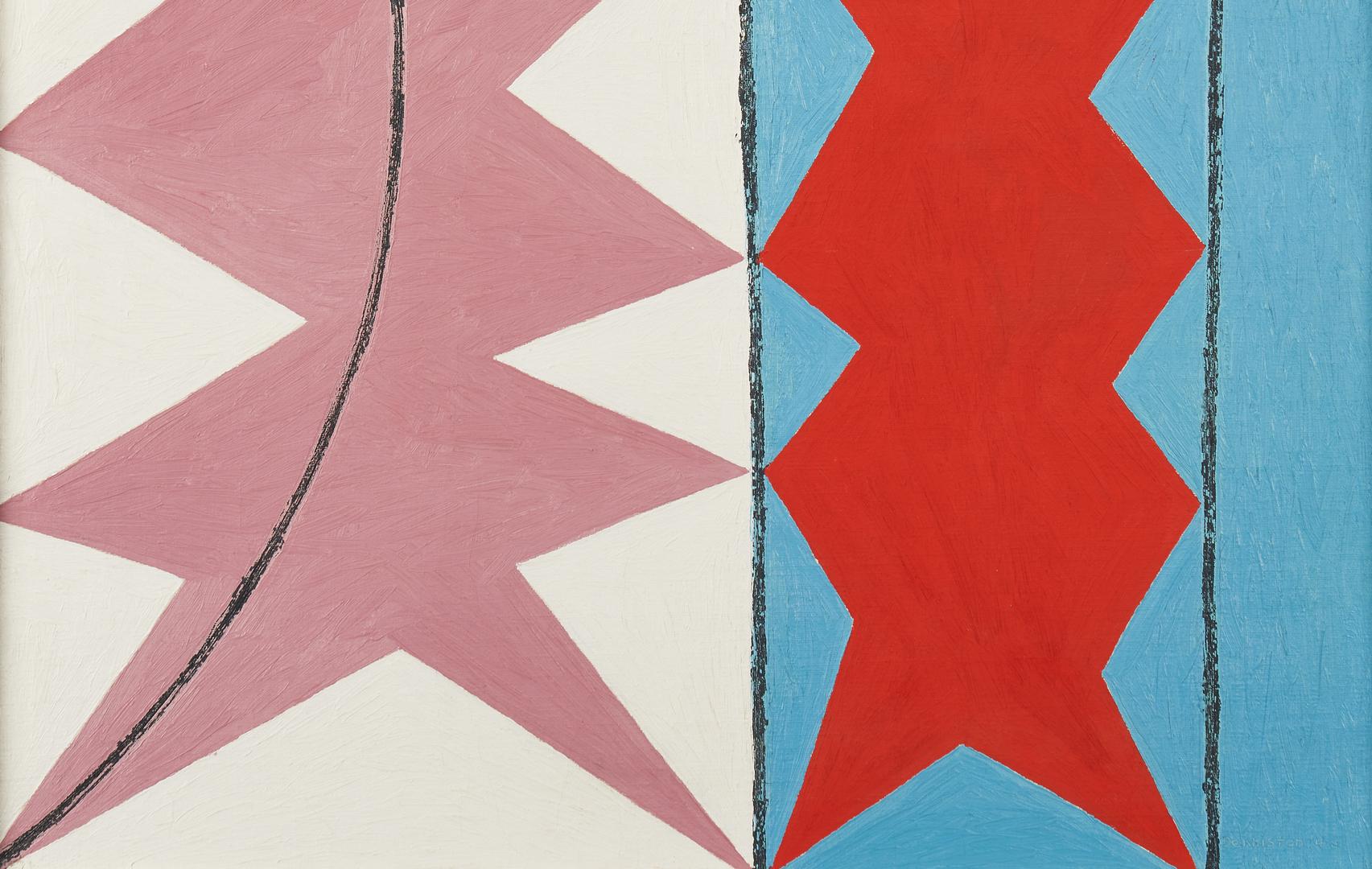 Lot 869: Douglas Denniston Abstract Oil on Canvas