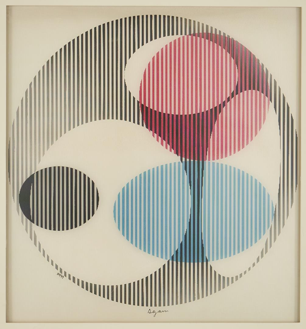 Lot 871: Yaacov Agam Kinetic Art Agamograph, Triple Galaxy