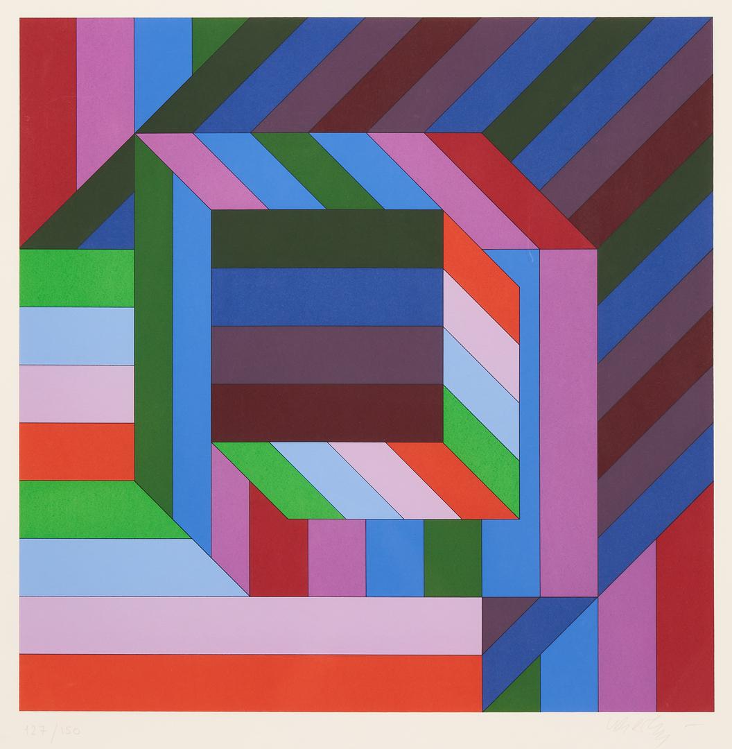 "Lot 873: Victor Vasarely Screenprint, ""Untitled,"" 127/150"