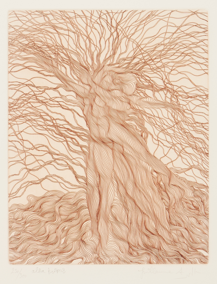 Lot 874: 3 Guillaume Azoulay Tree Etchings, The Willow Suite