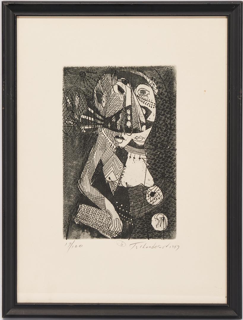 Lot 876: 5 Nahum Tschacbasov Cubo-Surrealistic Etchings