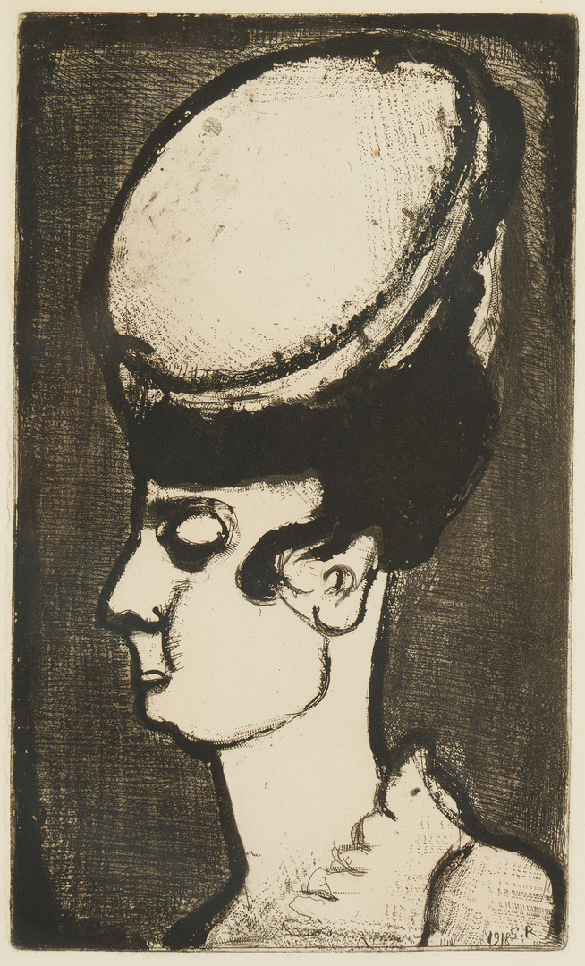 Lot 877: Georges Rouault Etching, Mademoiselle Irma