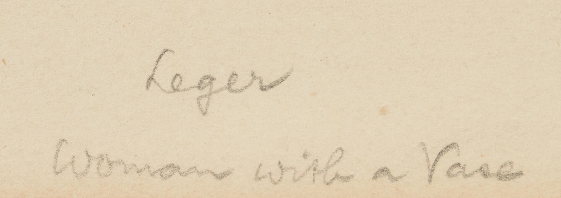 Lot 878: J. Villon after Fernand Leger, Woman with a Jar
