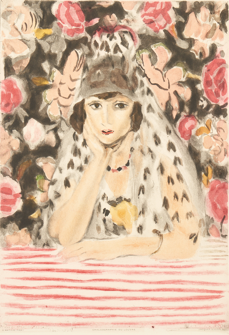 Lot 879: J. Villon after Henri Matisse, L'Espagnole a la Mantille