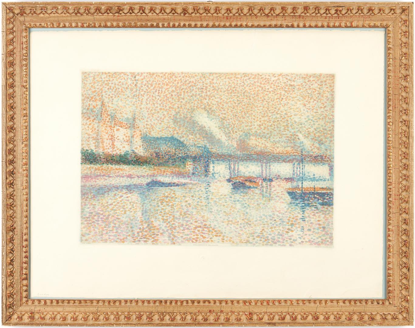 Lot 880: J. Villon after Maximilien Luce, Londres, Aquatint of London