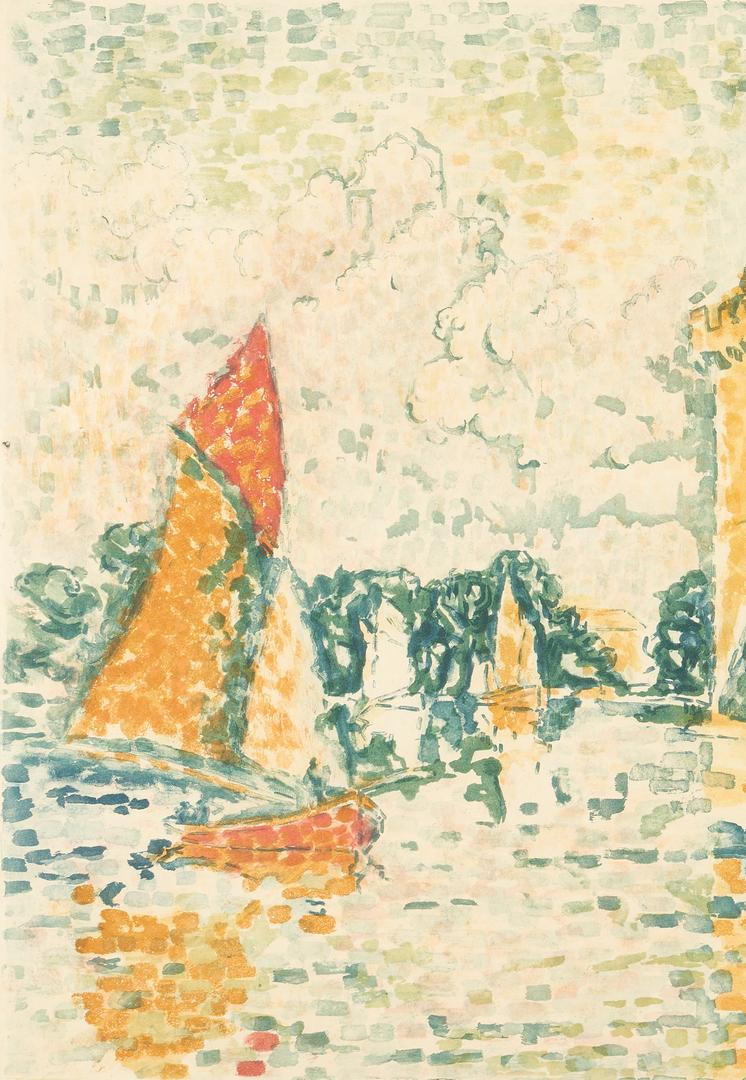 Lot 881: J. Villon After Paul Signac, Le Port de la Rochelle, aquatint