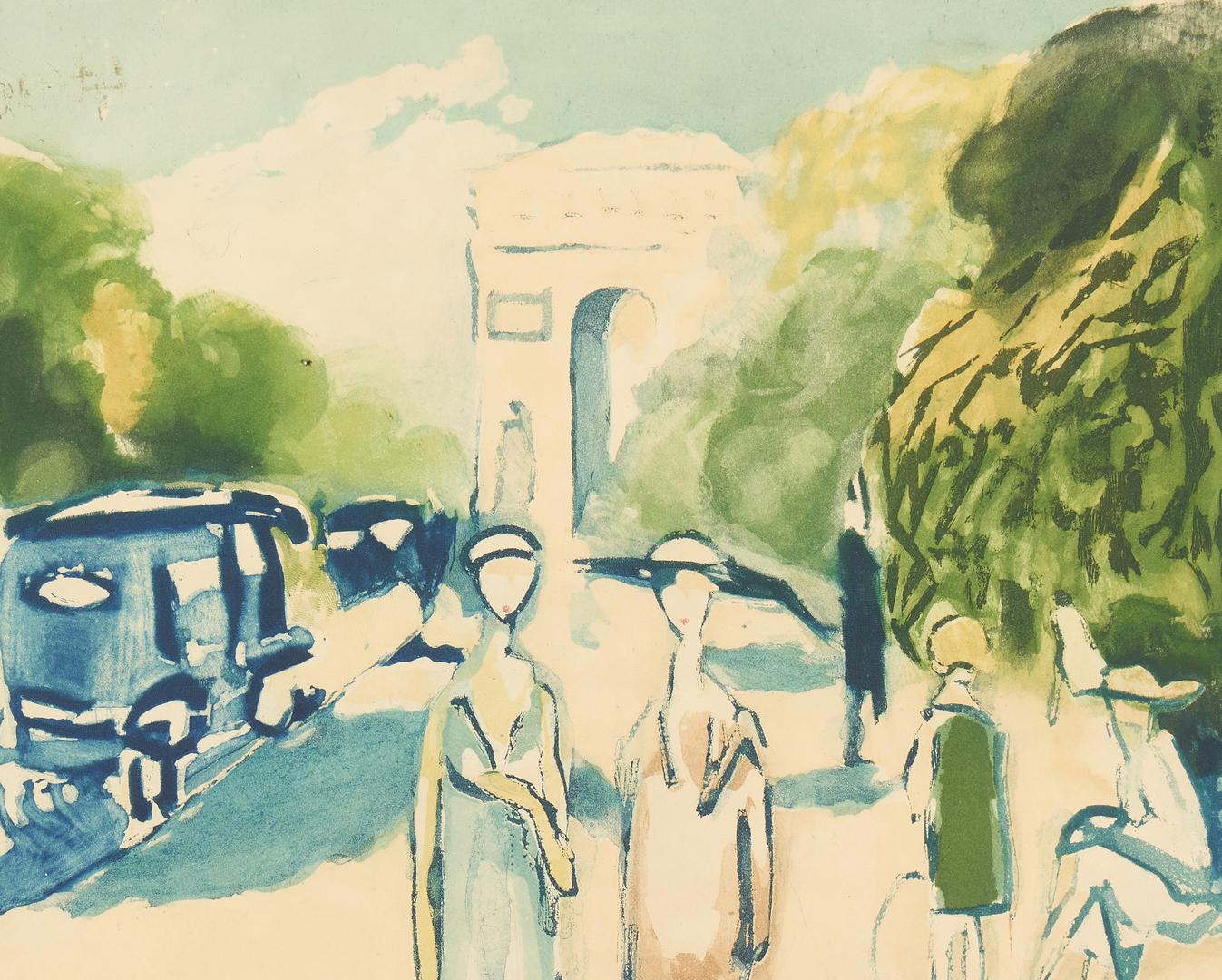 Lot 882: J. Villon after Kees Van Dongen, Avenue du Bois, aquatint