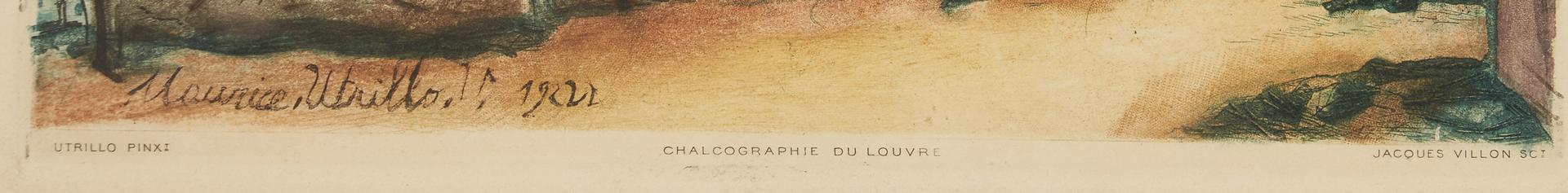 Lot 886: 3 J. Villon Prints After Friesz, Cezanne, Utrillo