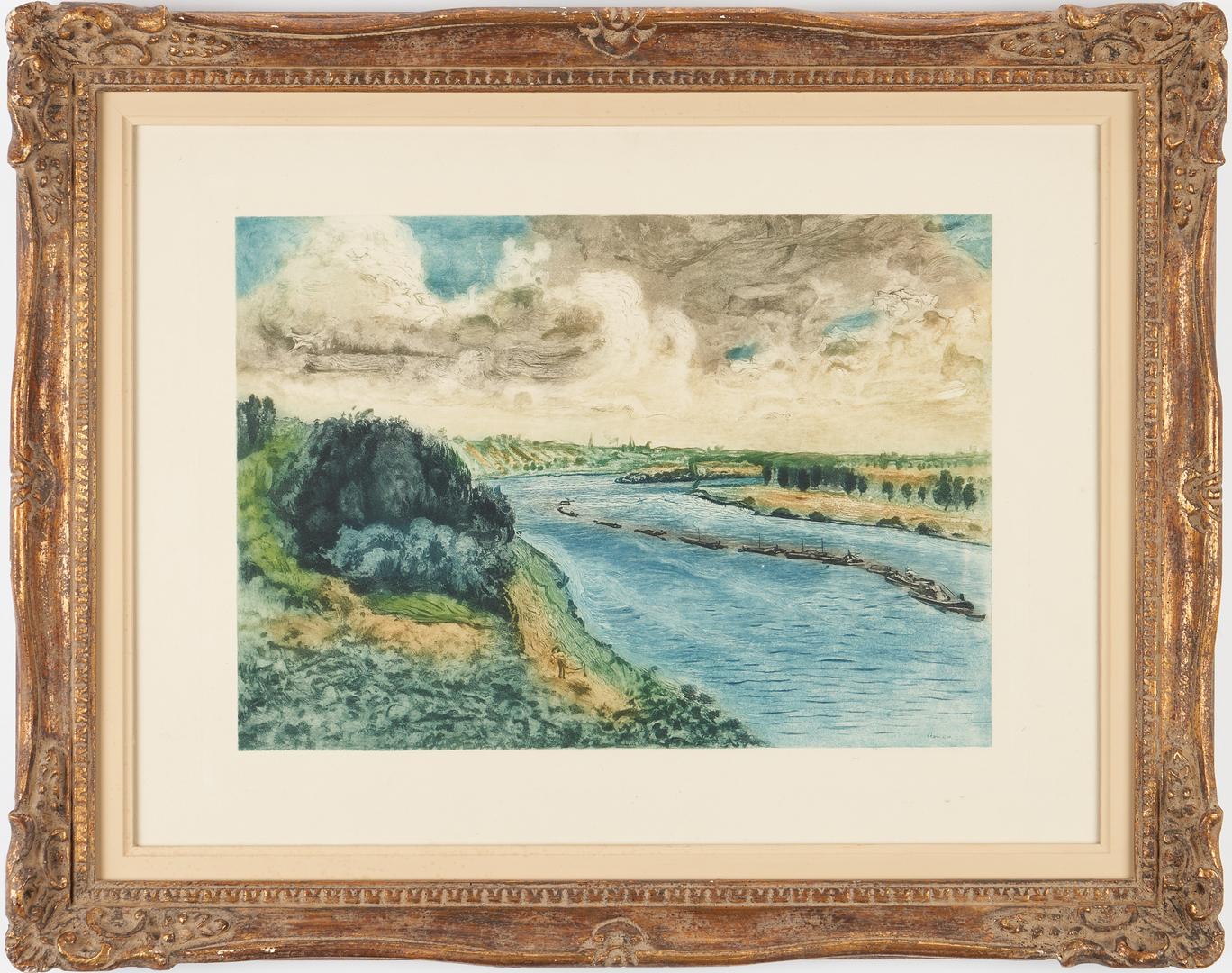 Lot 887: 2 After Pierre-Auguste Renoir Etchings, incl. Les Baigneuses