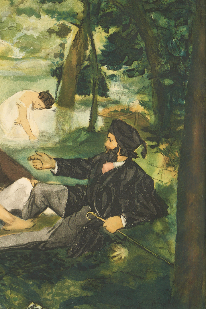 Lot 888: 2 Prints After Edouard Manet attr. Villon incl. Balcony, Luncheon on the Grass