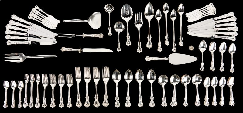 Lot 88: 147 Pcs. Towle Sterling Silver Flatware, incl. Old Colonial