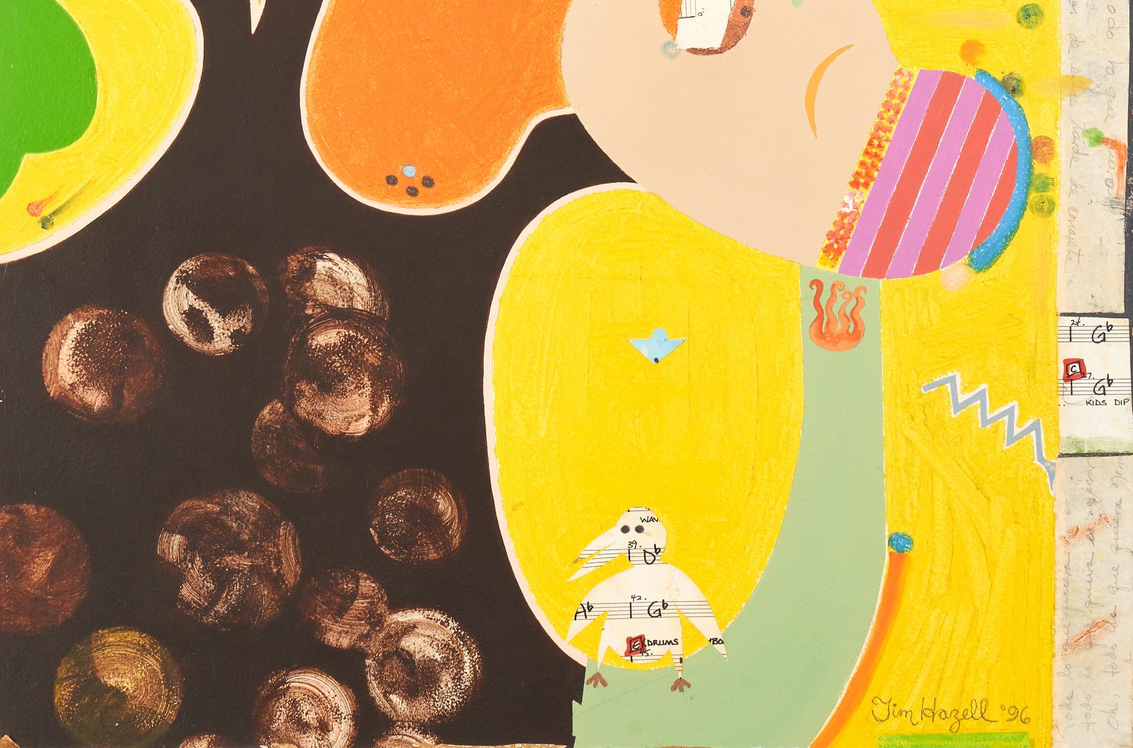 Lot 896: Tim Hazell Mixed Media Painting, Ritmo (Rhythm)
