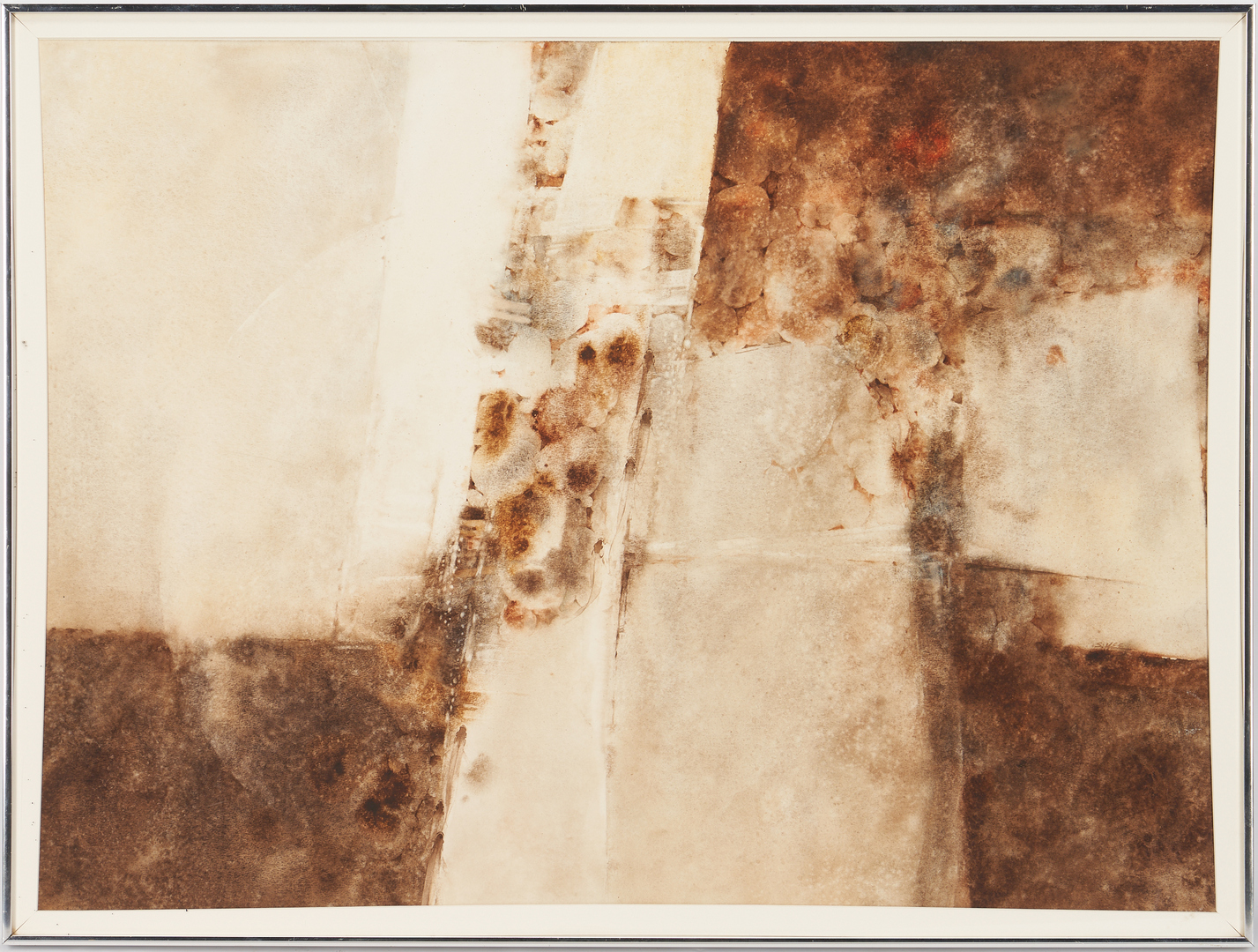 Lot 897: Exhibited Steven Yee W/C Abstract Painting, Gravel Creek